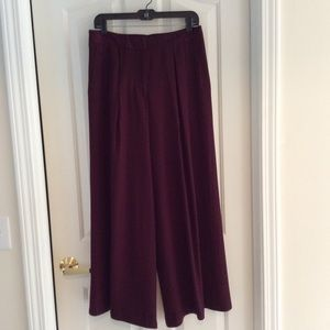 Fall ready burgundy wide leg palazzo pants